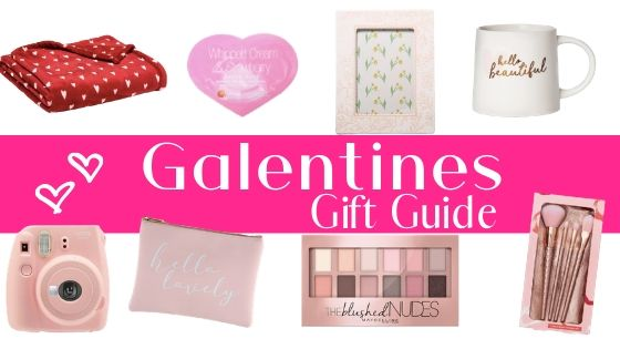 a bunch of different gift ideas for Galentines day