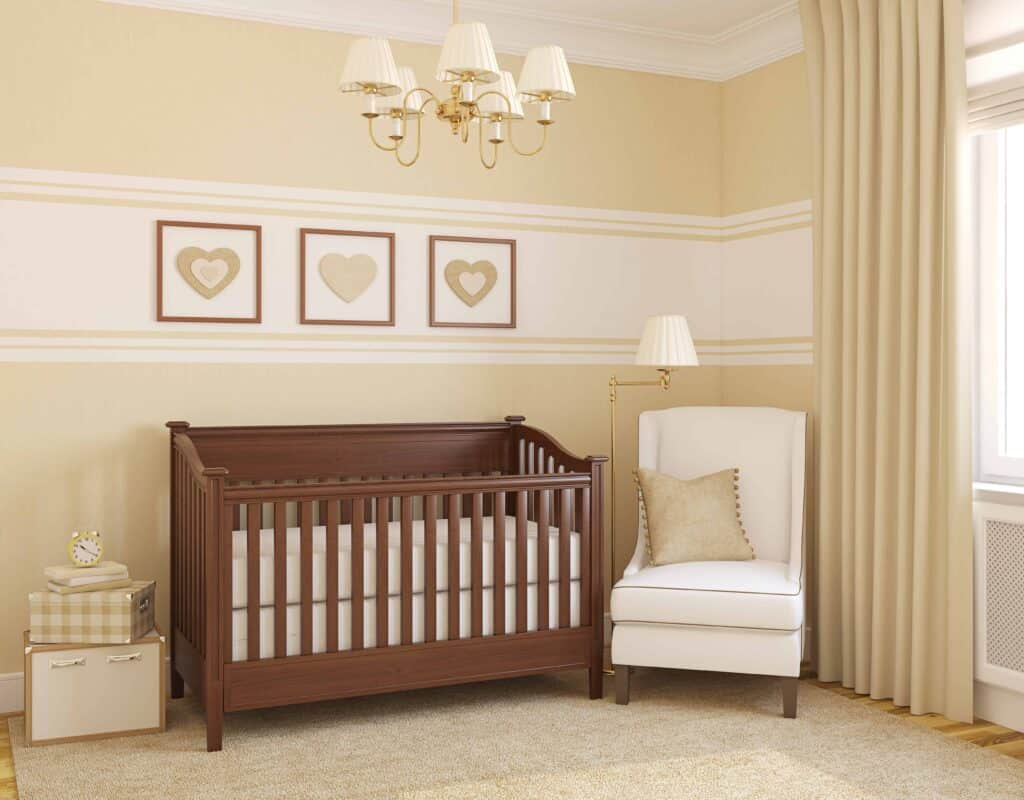 a nursery for a baby