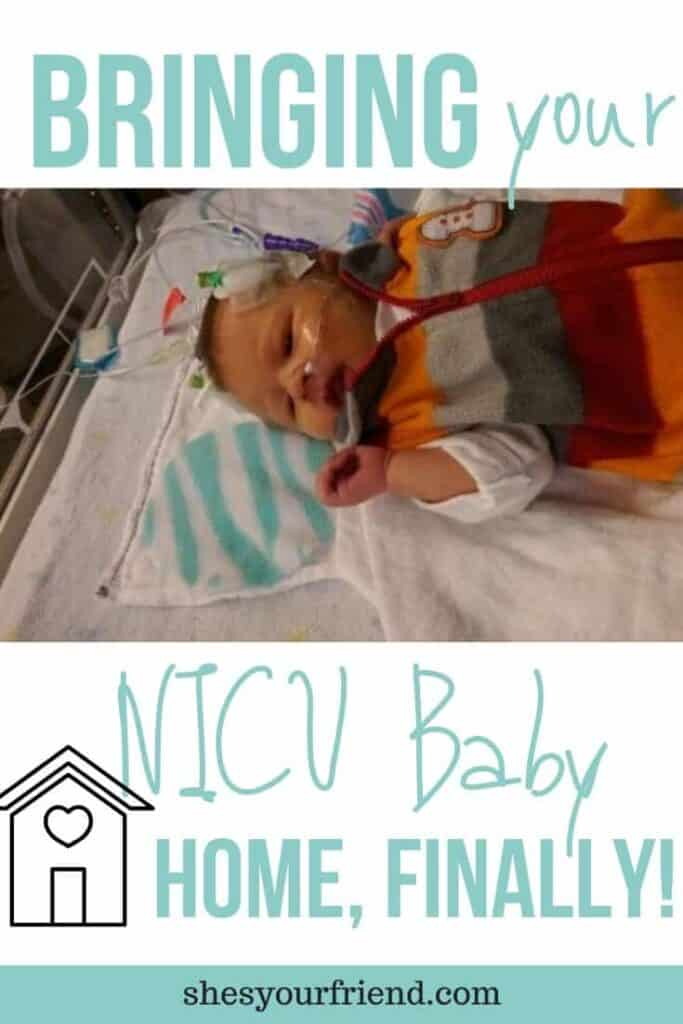 a baby ready to go home from the NICU