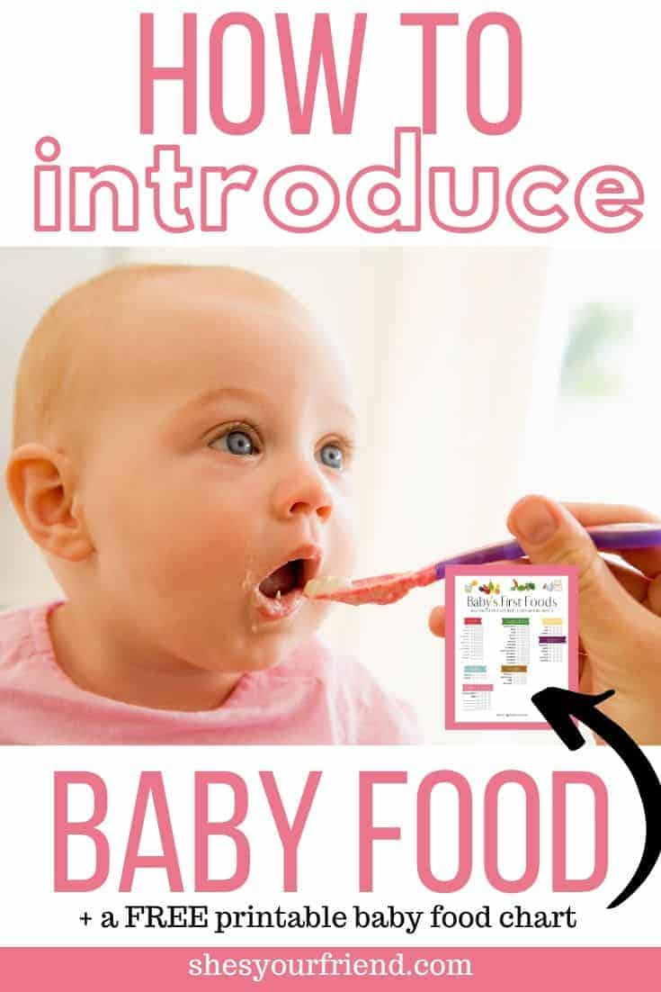 introducing baby food with printable chart shown
