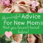 new mom advice you haven't heard of