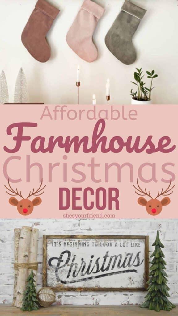 affordable farmhouse christmas decor