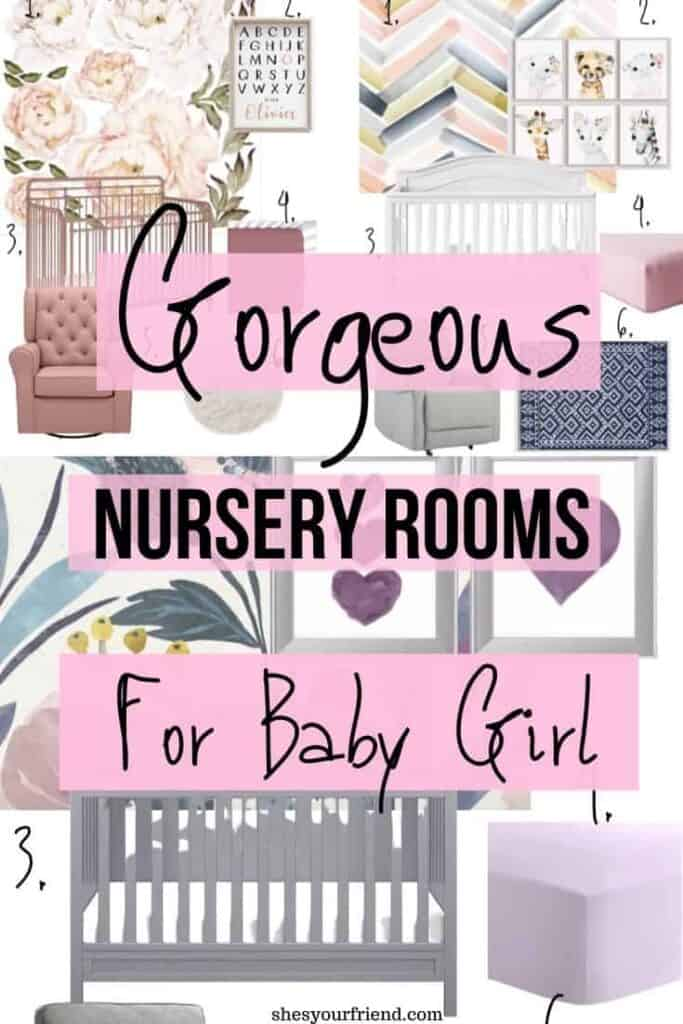 gorgeous nursery room for baby girls inspiration and vision board