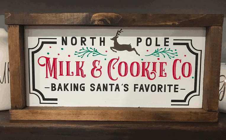 milk and cookie co farmhouse christmas sign