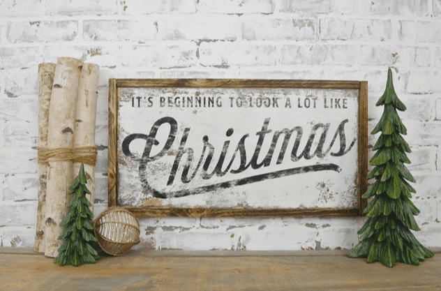 rustic farmhouse christmas sign