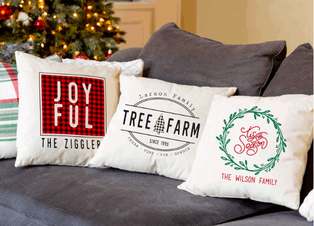 personalized farmhouse christmas pillow covers