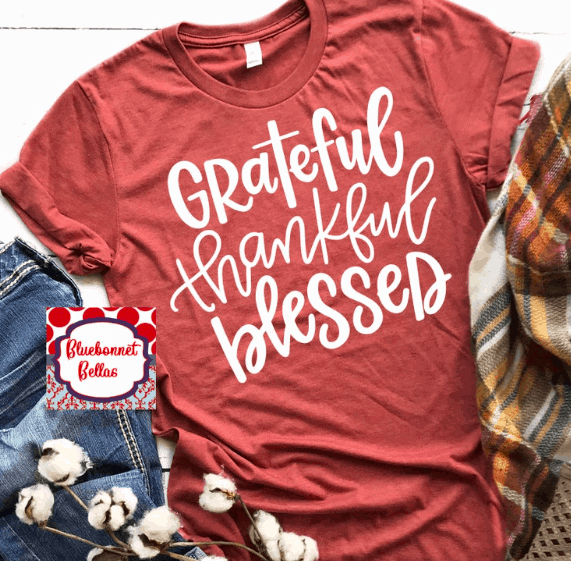 grateful thankful blessed tee shirt