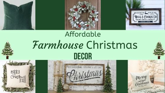 collage of farmhouse home decor