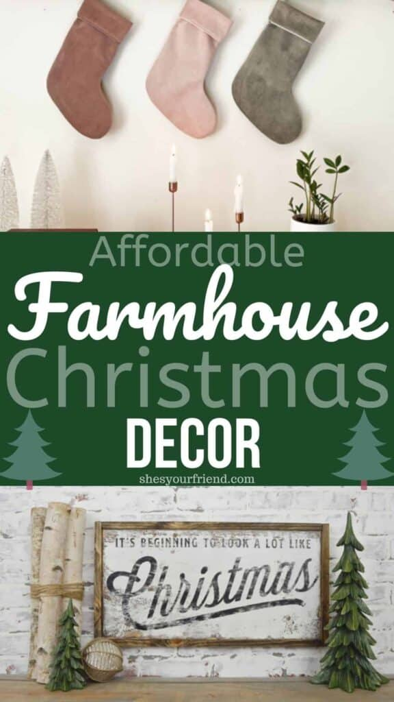 farmhouse home decor for Christmas
