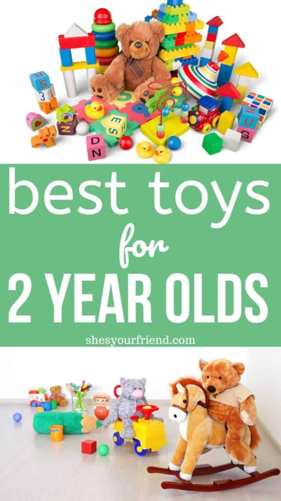 collage of colorful toys for 2 year olds
