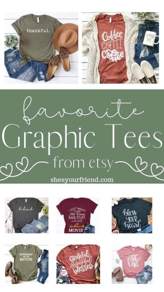 favorite t-shirts from etsy