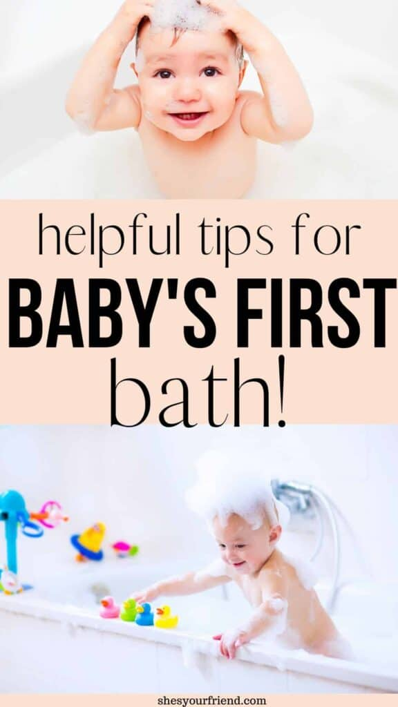 baby getting a bath