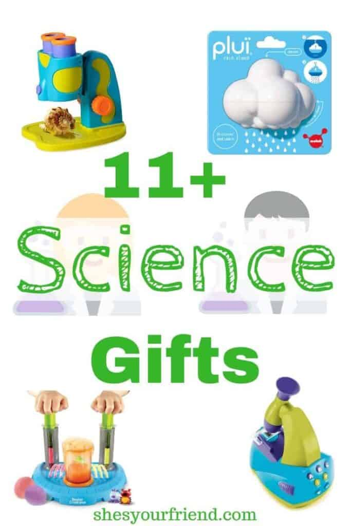collage of different science gifts