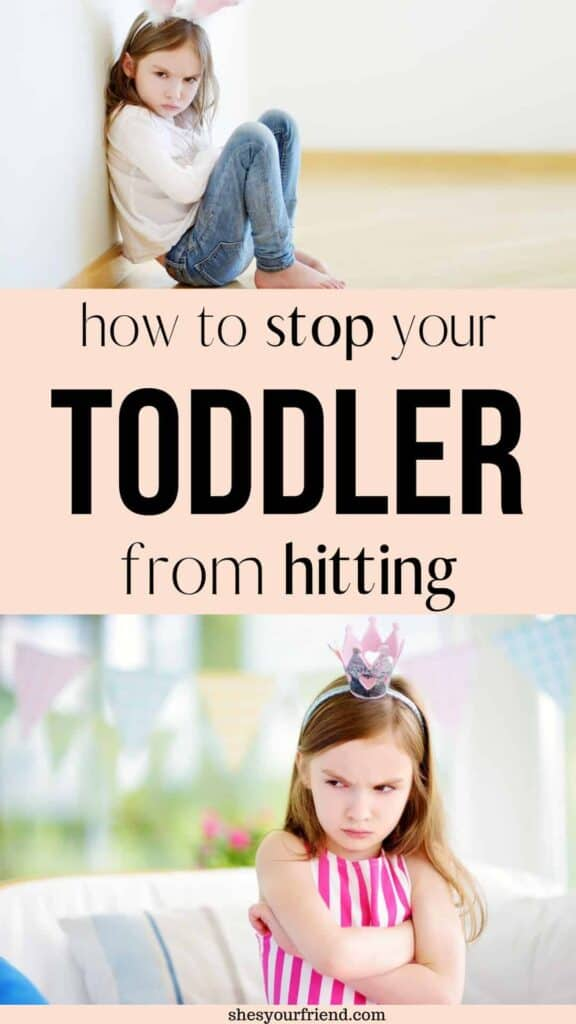 an angry toddler learning how to stop hitting