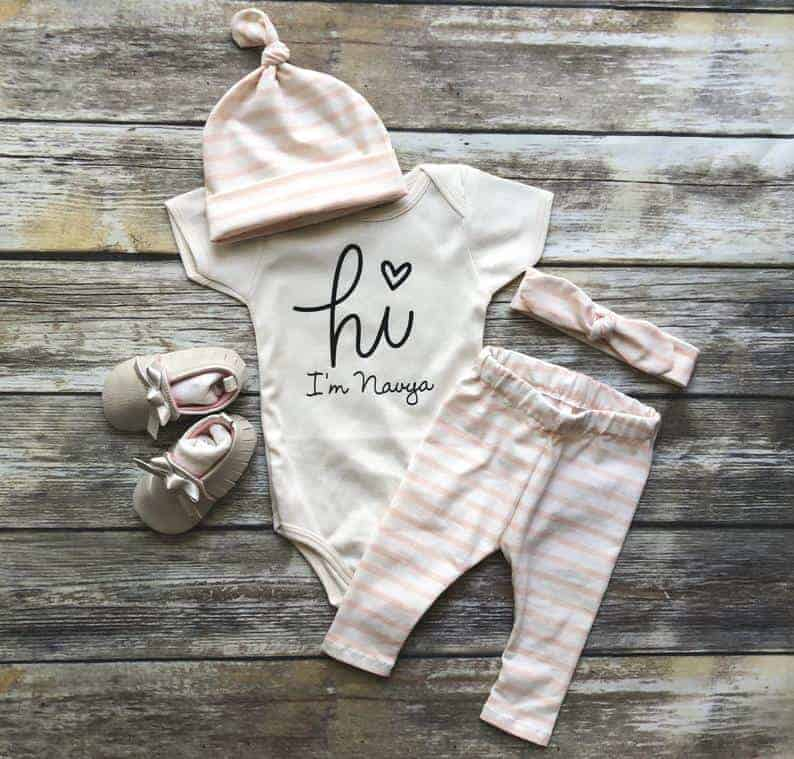 personalized baby girl going home outfit