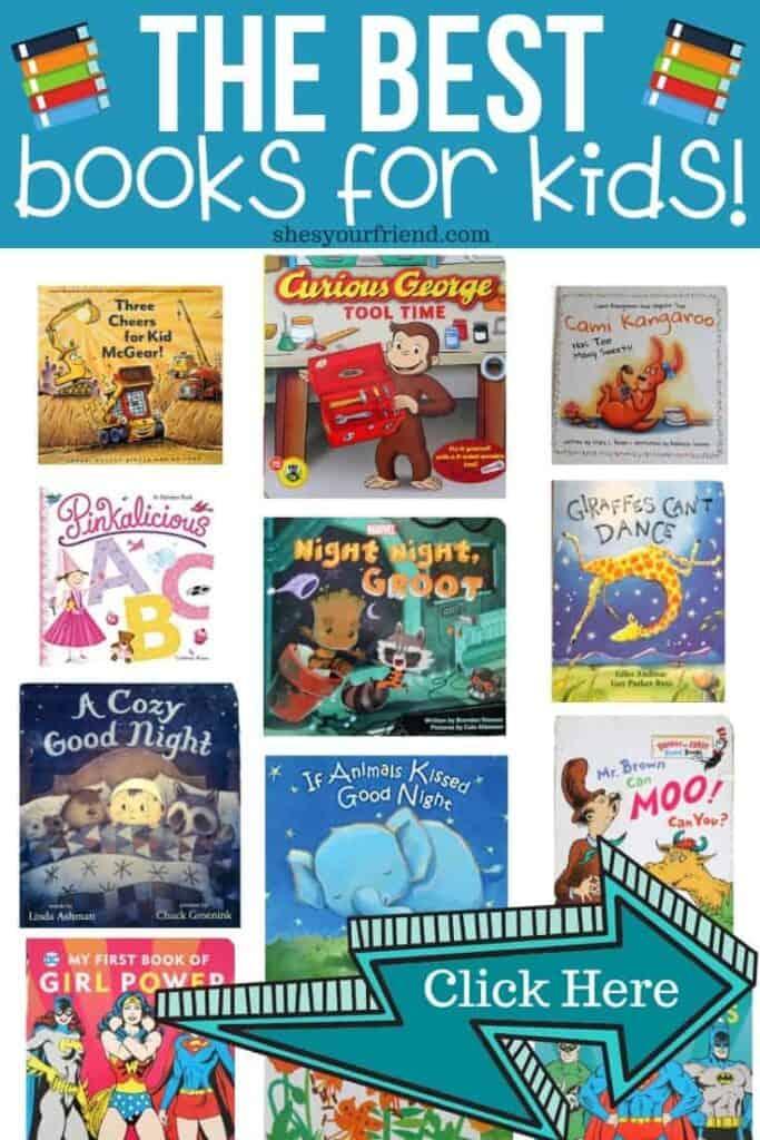 collage of fun kids books