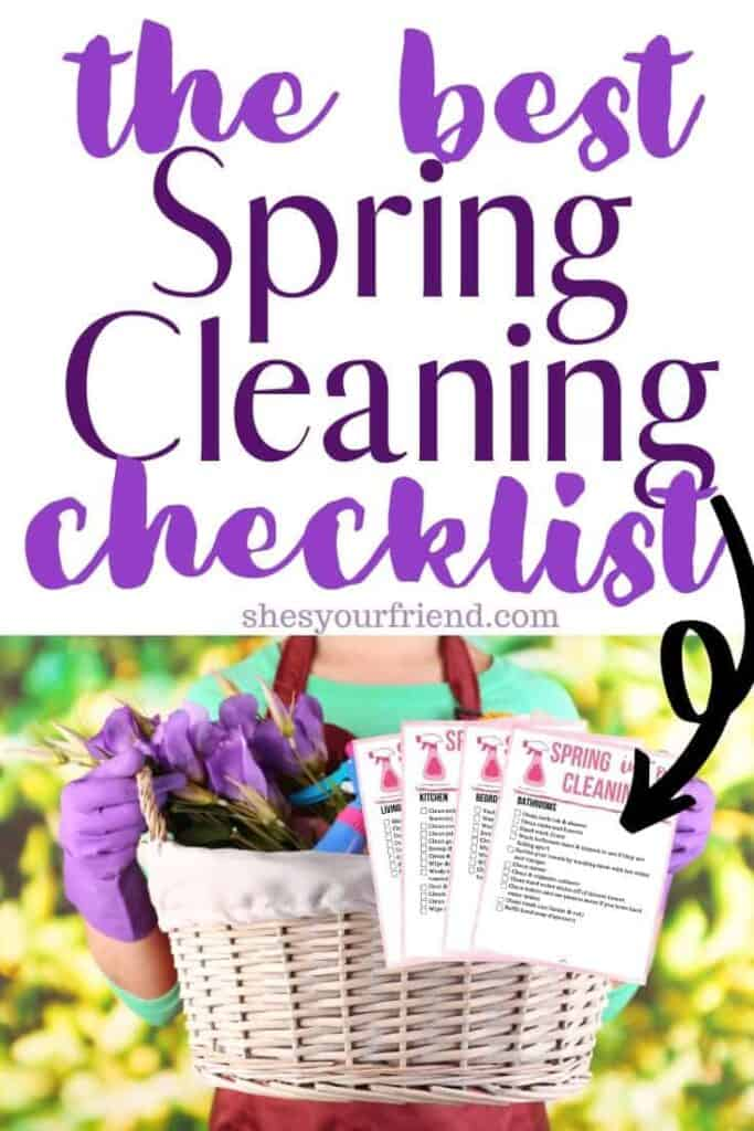 the best printable spring cleaning checklist