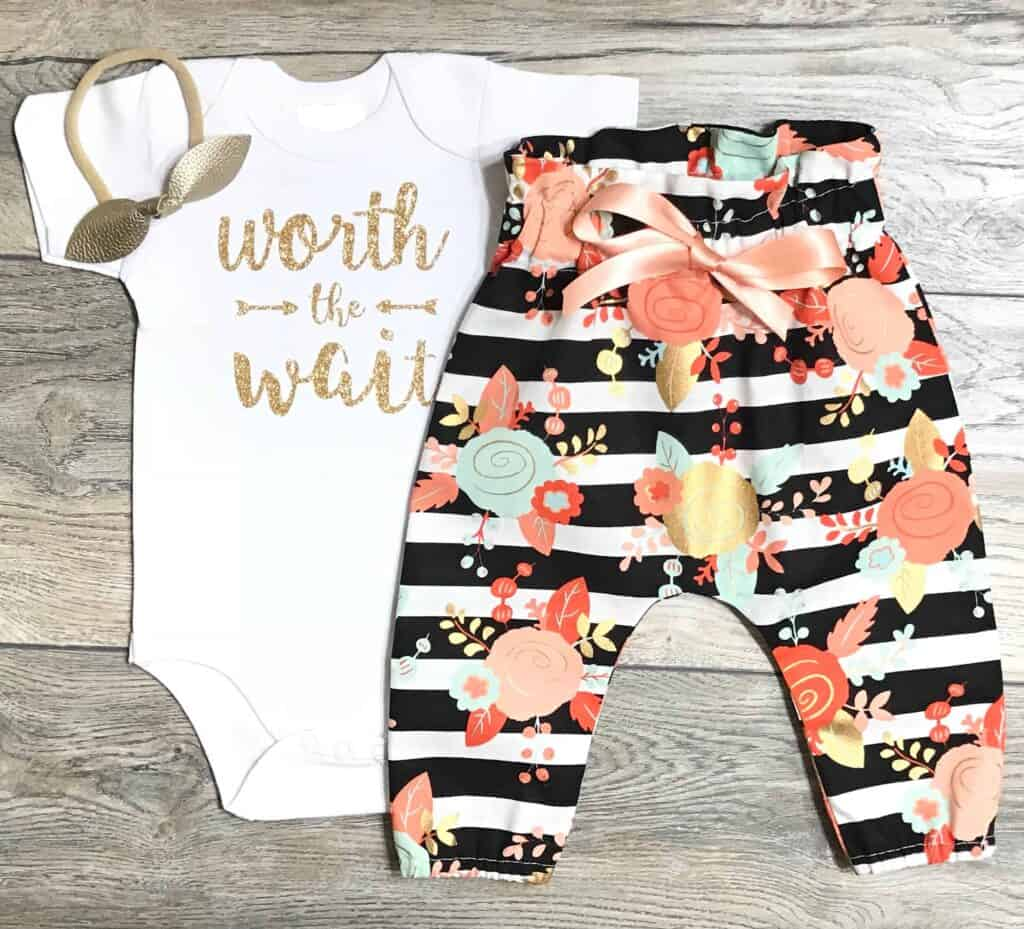 worth the wait coming home outfit for baby girl