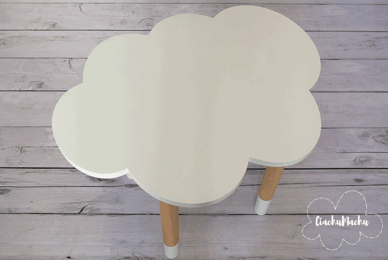 homemade cloud table for kids