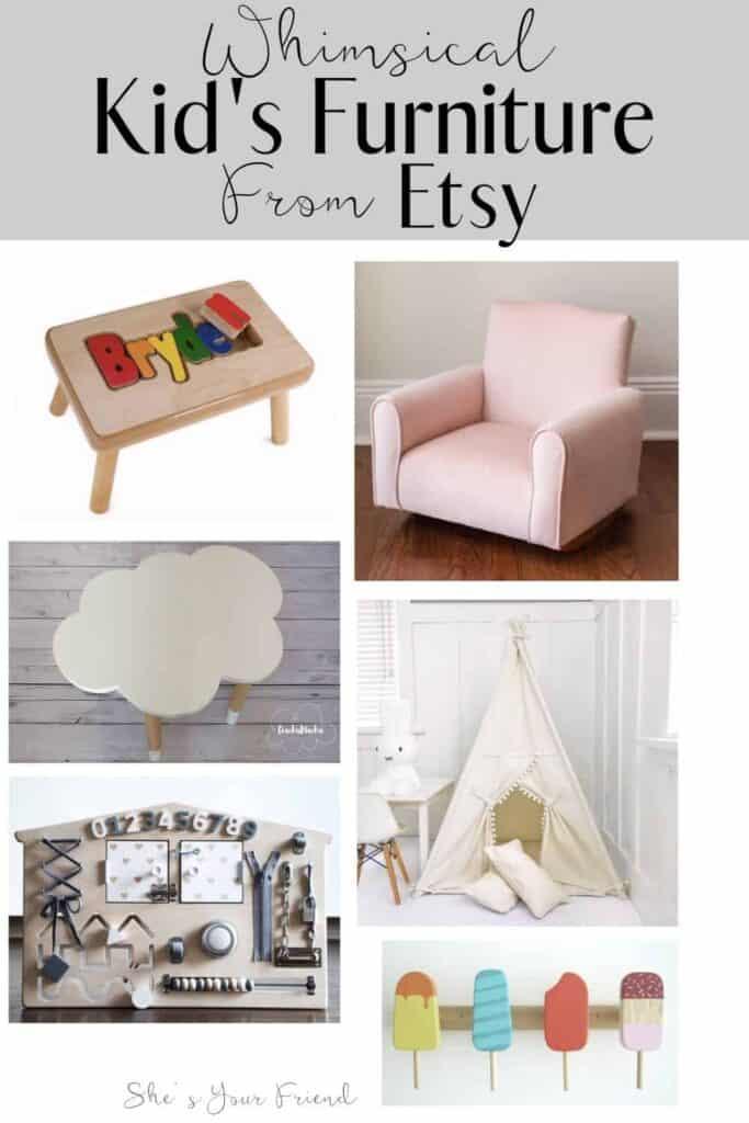 collage of kids furniture