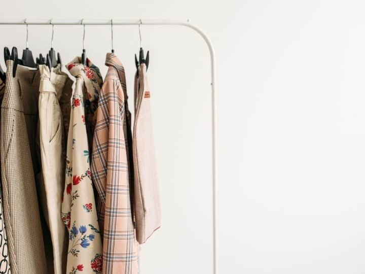 a bunch of similar shades of clothes for women