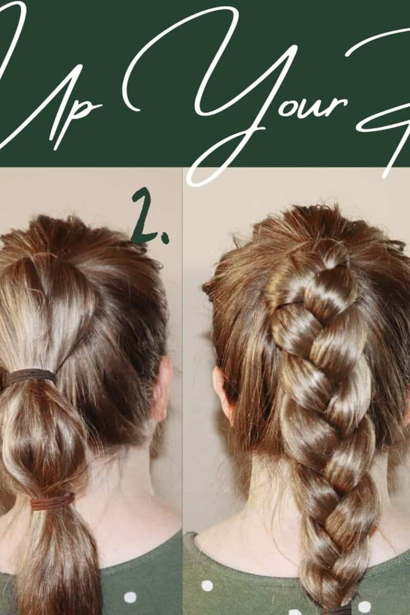 four different ponytail hair styles
