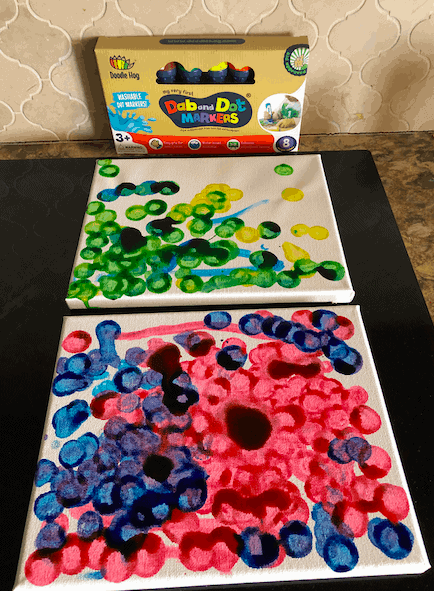 dot marker pictures on a canvas