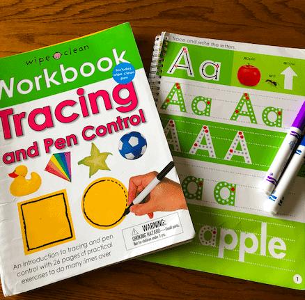 wipe clean work books for preschoolers