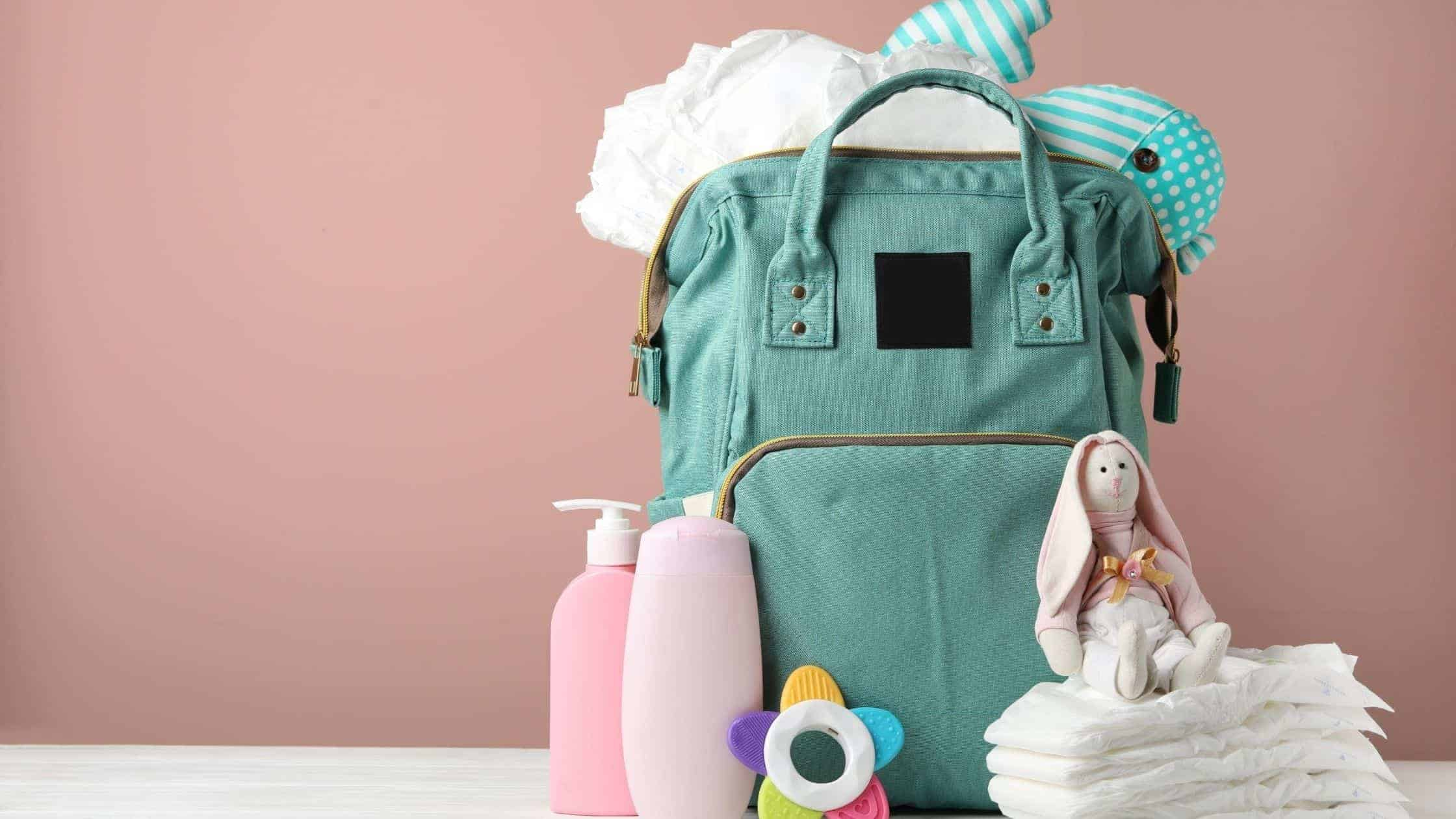 a fully packed diaper bag