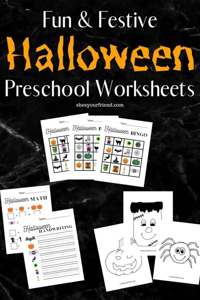halloween printable worksheets for preschool