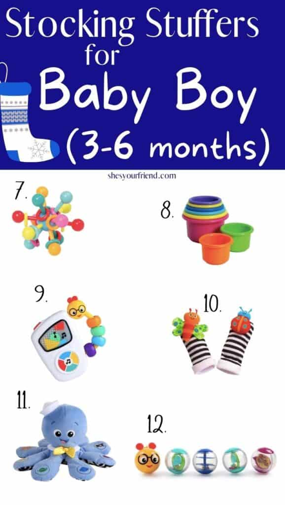 stocking stuffers for baby boy 3-6 months old