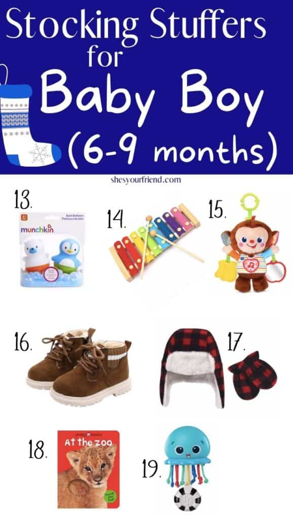 stocking stuffers for baby boy 6-9 months old