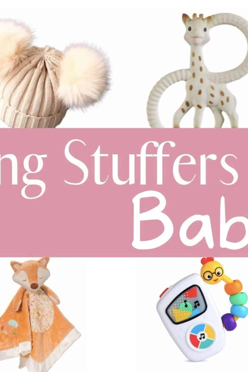 baby toys boots hats and books for stocking stuffer ideas