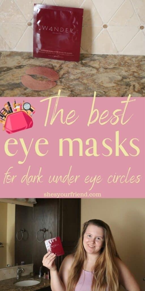 rose gold eye masks for dark under eye circles