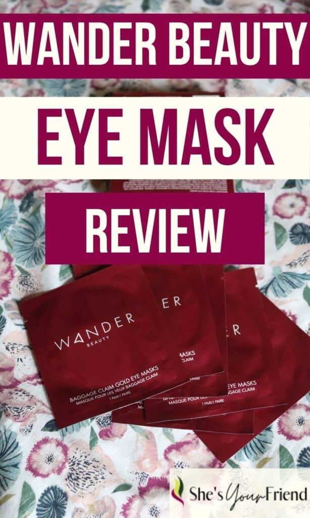 wander beauty rose gold eye masks