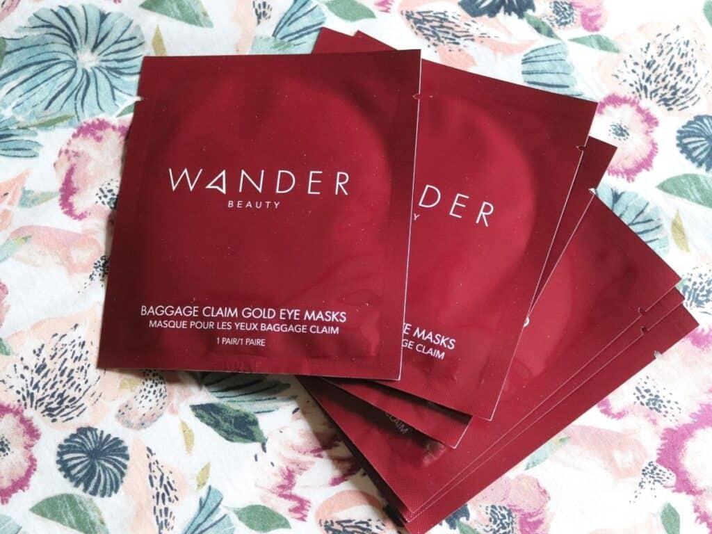 wander beauty eye masks in their package