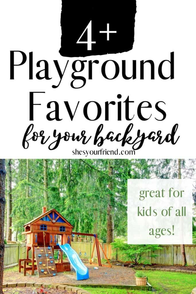 a fun playground in a back yard