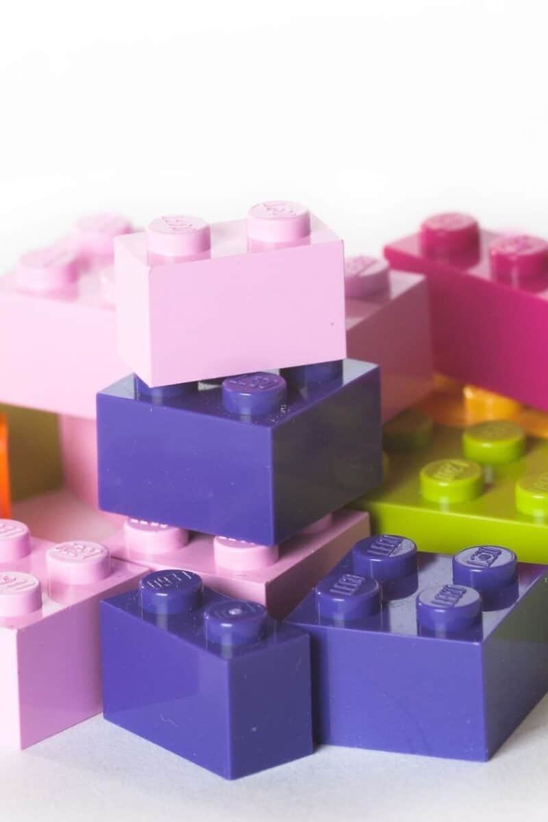 colorful legos stacked together
