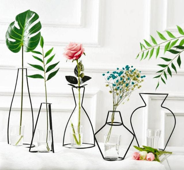 black vase forms for decorative purposes
