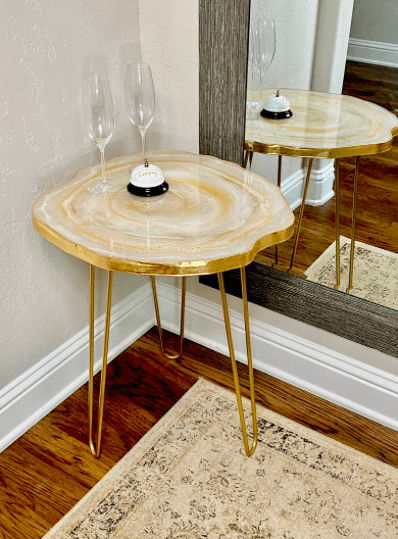 a geode accent table