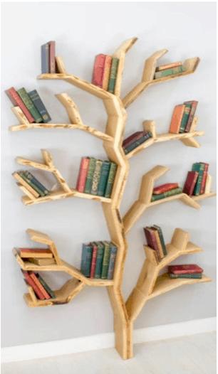 a bookshelf that looks like a tree
