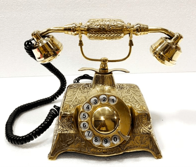 a vintage style rotary phone