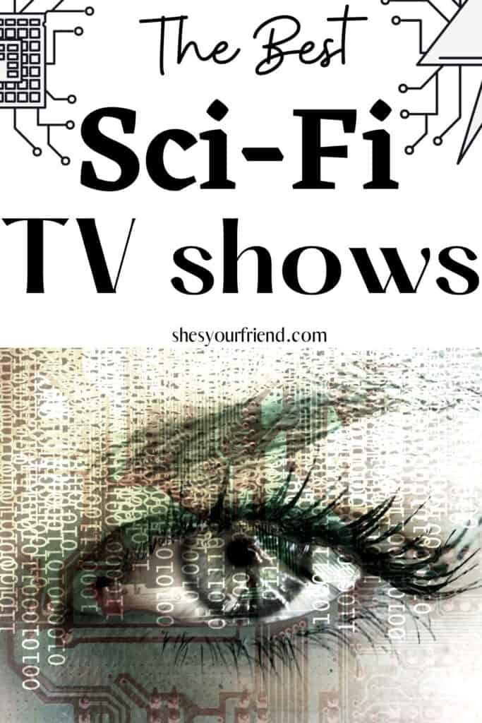 a biometric eye with text overlay that reads the best sci-fi tv shows