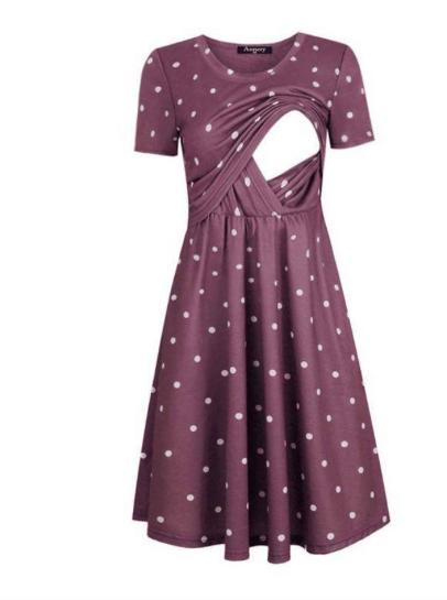 polka dot nursing friendly dress