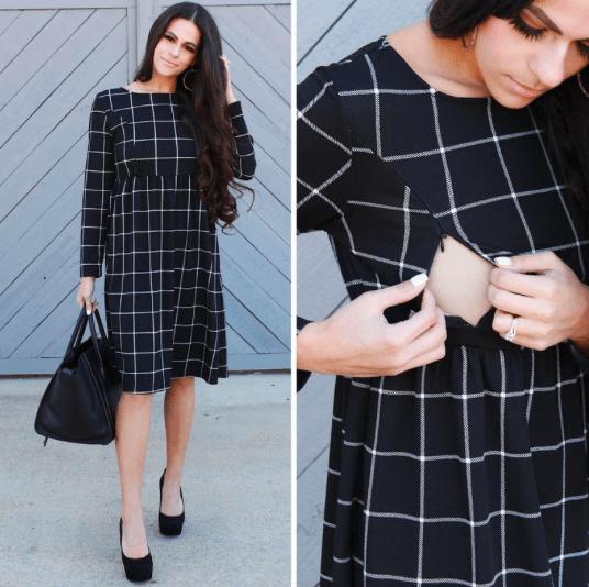 black formal nursing dress