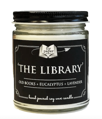 a library scented candle